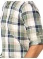 LC Waikiki Ekoseli Uzun Kollu Gömlek Haki